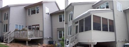 Before and After New Screen Porch