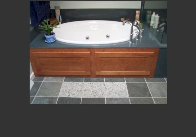 Bath 2-New tub with River Rock floor section