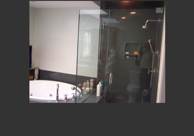 Bath 2- New glass shower stall
