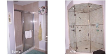 Bath 4-Shower before and after.